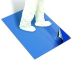 Sticky mat for clean rooms