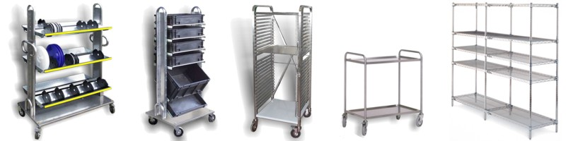 Trolleys and shelving
