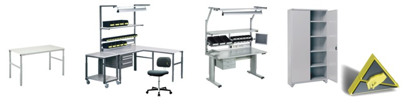 Treston Workbenches, Shelf Cabinets and Chairs